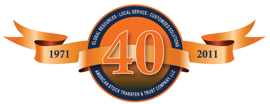 AST 40 Years of Excellence Logo