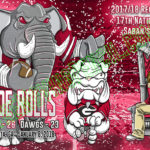 Alabama Crimson Tide vs Georgia Bulldog 2018 National Championship Cartoon Illustration