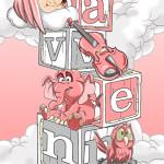 Aven Blocks Nursey Illustration Cartoon Decor Decoration