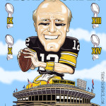 Blonde Bomber - Terry Bradshaw - Pittsburgh Steelers Caricature Man Cave Decoration Illustration