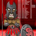 Southern Durham Spartans - Bull City 2018-19 Varsity Boys Basketball Team Poster
