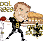 Drew Cool Brees Caricature