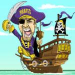 ECU Pirate Caricature Cartoon