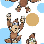 Nursery - Five Monkeys Jumping on the Bed