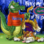 Florida Gators vs LSU Tigers Cartoon