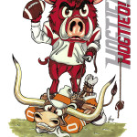 Man Cave - Razorbacks vs Longhorns Hogtied