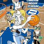 Officiating in Cameron Indoor Stadium Caricature UNC Tar Heels Duke Blue Devils Man Cave Decoration Illustration