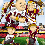 Washington Redskins Man Cave Decoration Illustration