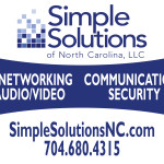 Client: Simple Solutions of NC, LLC | Lawn Sign of Corporate Event | Created with Adobe InDesign