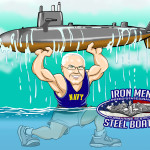 Submarine Men United State Navy Man Cave Decoration Illustration