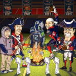 Super Bowl - New England Team Illustration