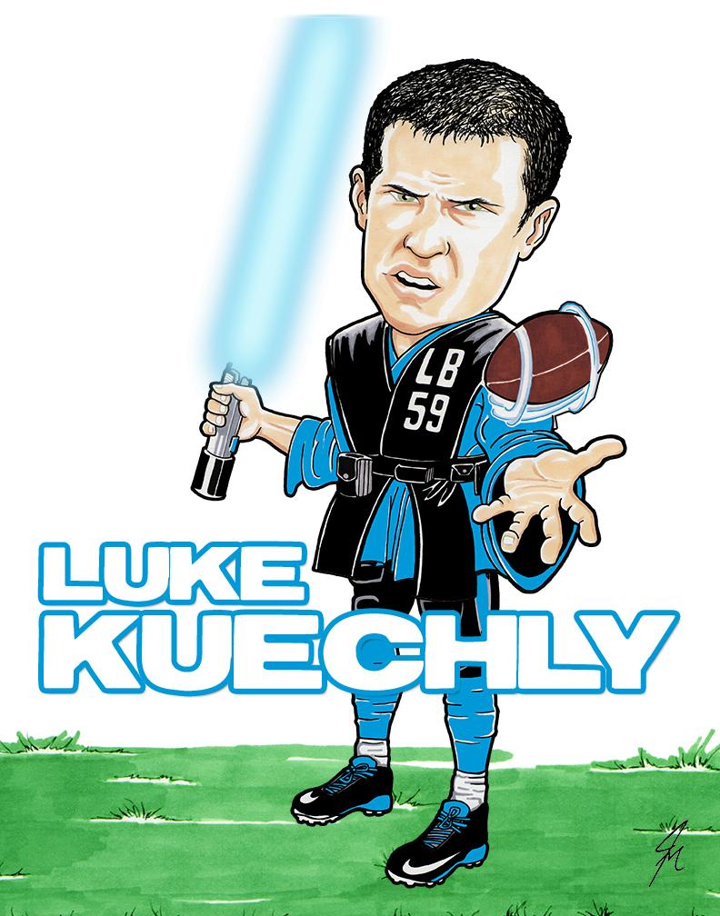Moving Pencil Illustrates Luke Kuechly