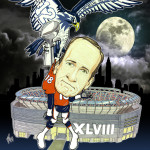 Seattle Mascot vs. Peyton Manning Caricature