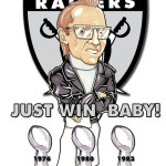 Al Davis Oakland Raiders NFL Caricature Man Cave Decoration Illustration