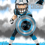 Luke Kuechly Captain Kuechly Cartoon Caricature