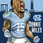 Donnie Miles UNC Caricature Cartoon