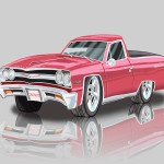 El Camino Caricature - Cartoon