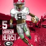 Garrison Hearst UGA Caricature Cartoon