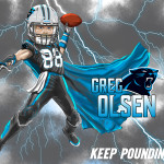 Greg Olsen Cartoon Caricature Carolina Panthers