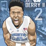 Joel Berry II Caricature Cartoon Illustration