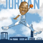 Michael Jordan Jumpman Caricature Cartoon