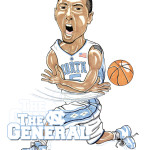 Kendall Marshall UNC Tar Heels Caricature Man Cave Decoration Illustration