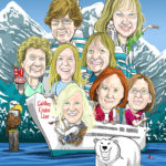 Ladies Cruise Cartoon Caricature