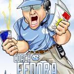 Larry Fedora UNC Tar Heels Man Cave Decoration Illustration