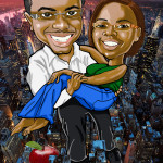 New York Couple Decoration Illustration