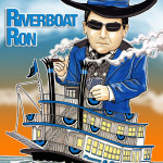 Riverboat Ron Caricature Man Cave Decoration Illustration
