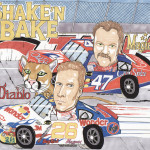 Shake'N Bake Movie Caricature Man Cave Decoration Illustration