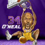 Shaq O'neal Caricature Cartoon