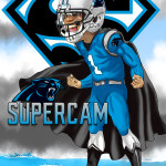 Cam Newton SuperCam Cartoon Caricature