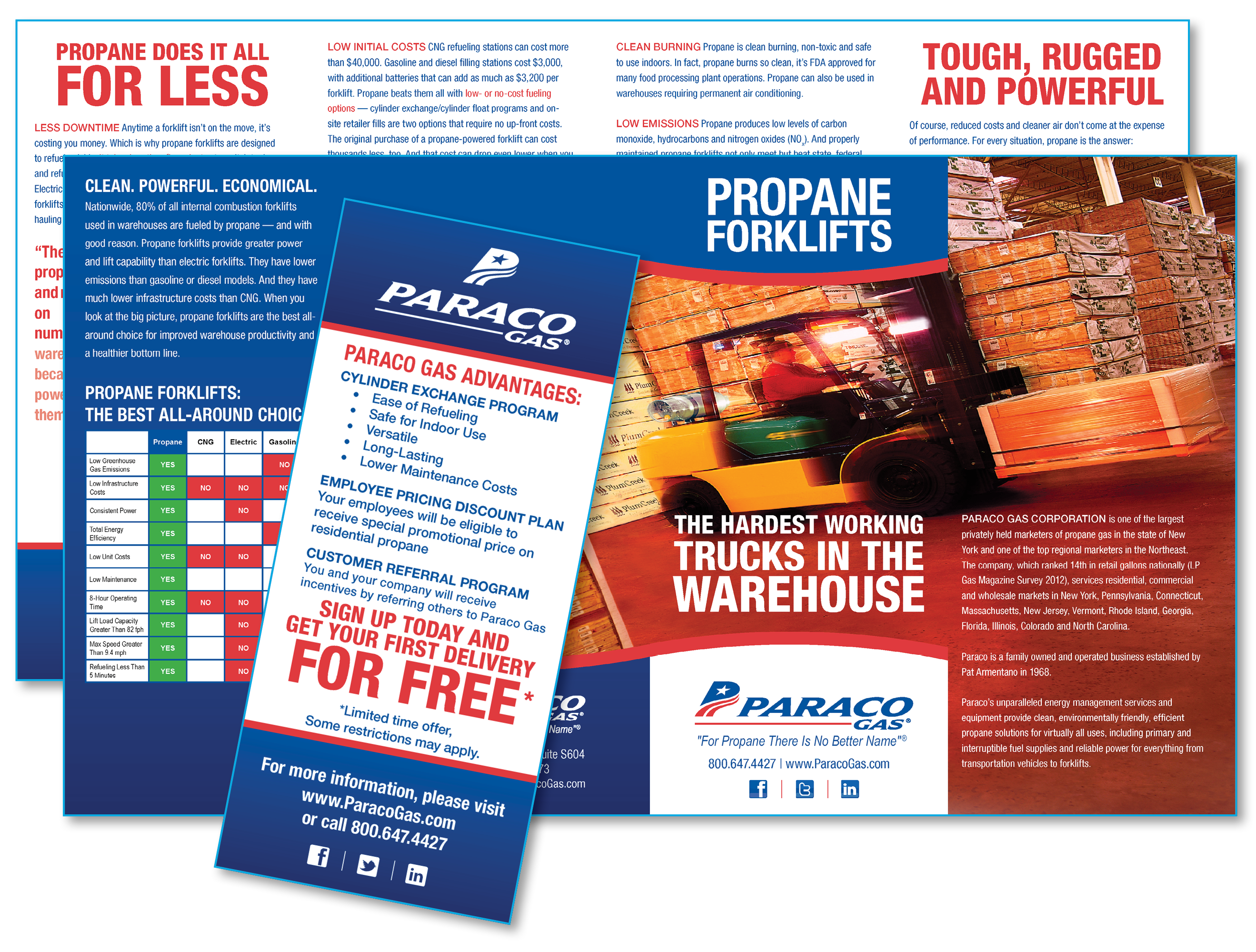 Paraco Gas Propane Forklifts Brochure and Special Offer