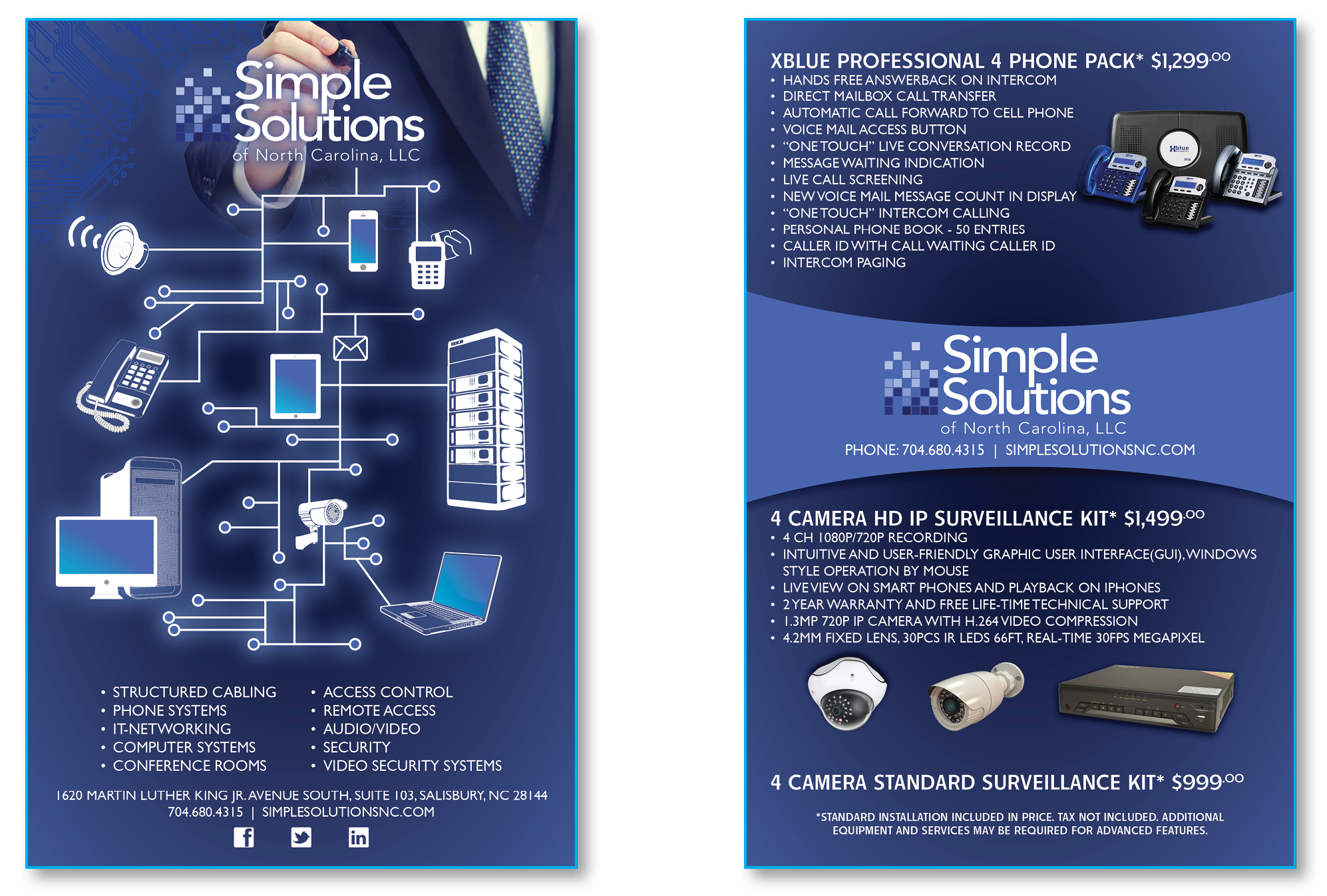 Simple Solutions of North Carolina, LLC Postcard