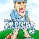 Coach Brewer UNC Tar Heels Man Cave Decoration Illustration