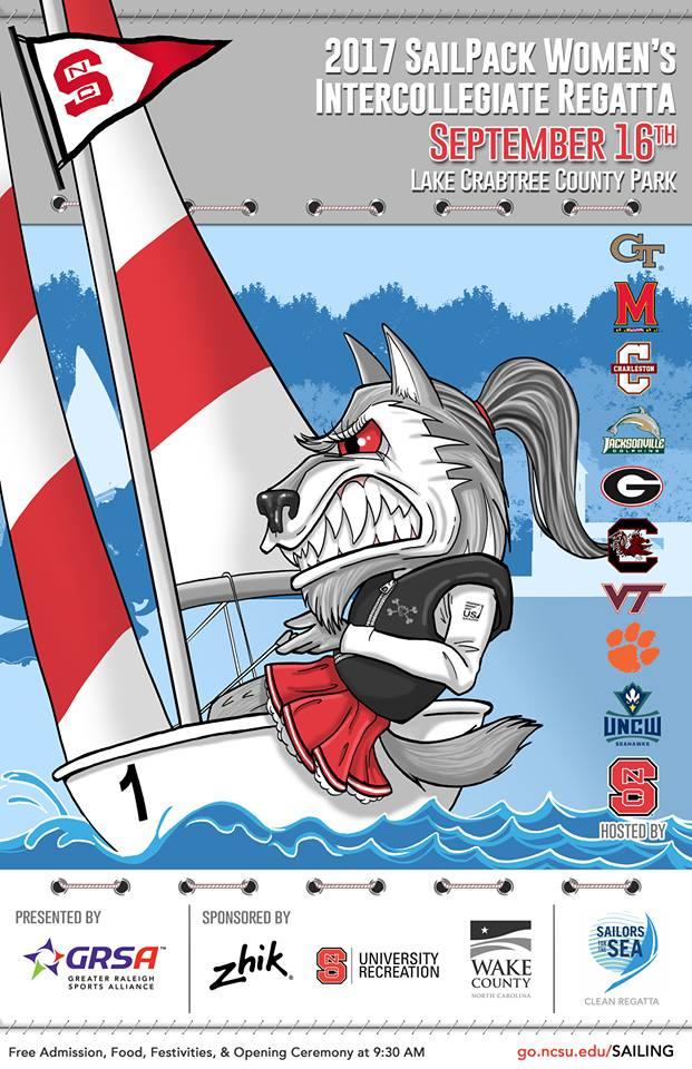 2017 SailPack Women's Intercollegiate Regatta Poster
